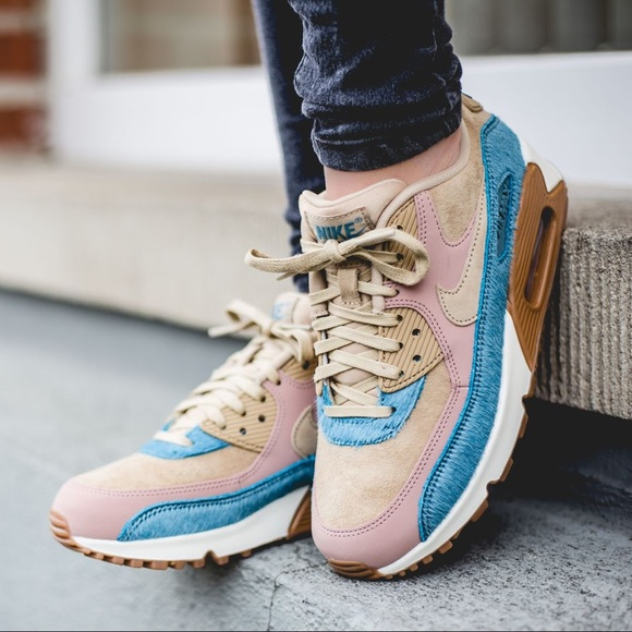 464f0c181109 Nike Air Max 90 LX Suede + Pony Hair Sneakers